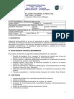 PROGRAMA Formulacion y evaluacion de proyectos 2019