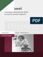 Claudia Horst - Marc Aurel_ Philosophie und politische Macht zur Zeit der Zweiten Sophistik (2013, Franz Steiner Verlag Wiesbaden GmbH) - libgen.li