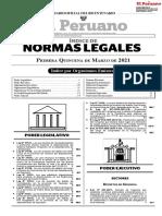 Normas Legales Perú del 20210301 al 20210315