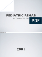 Pediatric rehab 2001-2009