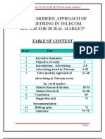 """""""ULTRA  MODERN APPROACH OF ADVERTISING IN TELECOM SECTOR FOR RURAL MARKET"""""""