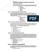 Hypersensitivity Reaction Types