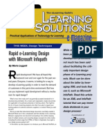 Rapid e-Learning Design with Microsoft InfoPath