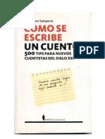 Cómo se escribe un cuento, tips para los nuevos cuentistas-Guillermo Samperio