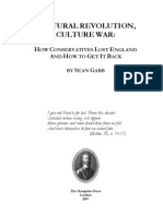 CULTURAL REVOLUTION, CULTURE WAR, HOW CONSERVATIVES LOST ENGLAND AND HOW TO GET IT BACK BY SEAN GABB