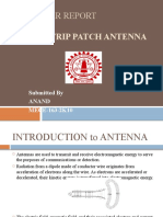MICROSTRIP LINE PATCH ANTENNA