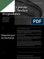 Sanciones Por No Facturar y Hechos Irregualares
