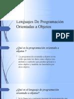 Lenguajes De Programación Orientadas a Objetos