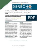 Limites Procesales de La Proteccion Fundamentales y El Filtro de Admisibilidad