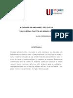 ATIVIDADE 1 DE ORÇAMENTOS E CUSTO