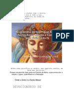 Devocionario livro Sao Miguel Arcanjo MILICIA 02t, Exercito de São Miguel