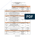 28. Agenda Semanal Agosto 30 Al 3 de Septiembre 2021
