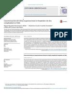 Caracterización del clima organizacional en hospitales de alta