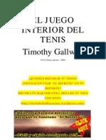 El Juego Interior Del Tenis - Timothy Gallwey
