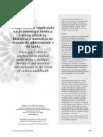 Da Aplicação à Implicação Na Antropologia Médica Leituras Políticas, Históricas e Narrativas Do Mundo Do Adoecimento e Da Saúde