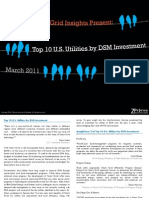 Top 10 US Utilities by DSM Investment Zpryme Smart Grid Insights March 2011
