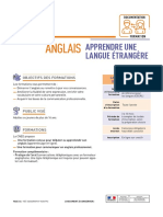 FORMATION ANGLAIS CNED