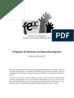 Propuesta Reforma a la E. Superior