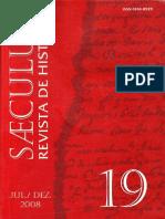 Saeculum Revista de Historia No 19 Dossi Historia e Iconografia