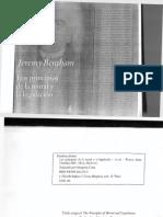 Los principios de la moral y la legislación Jeremy Bentham