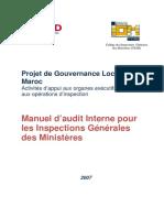Manuel d'Audit Pour Inspection General Des Ministeres