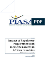 Impact of Regulatory Requirements on Medicines Access in African Countries. Piasa Member Survey Results
