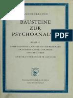Ferenczi - Bausteine Zur Psychoanalyse. Bd. IV_ Gedenkartikel, Kritiken Und Referate, Fragmente, Bibliographie, Sachregister-Verlag Hans Huber (1964)