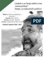 Teoria Sociopolitica y Educacion - Sanchez Florencia