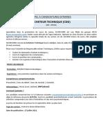 ACHETEUR TECHNIQUE_SUCRIVOIRE_CDD