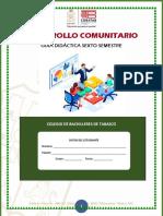 Capacitación de Desarrollo Comunitario.- Sexto Semestre.- Guía Didáctica Estudiante