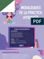 Tema de Exposicon - Modalidades de La Practica Ayudantía