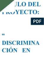 Proyecto discriminacion