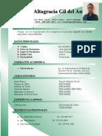 Claudia Altagracia Curriculum Bitae