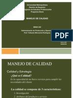 MANEJO DE CALIDAD