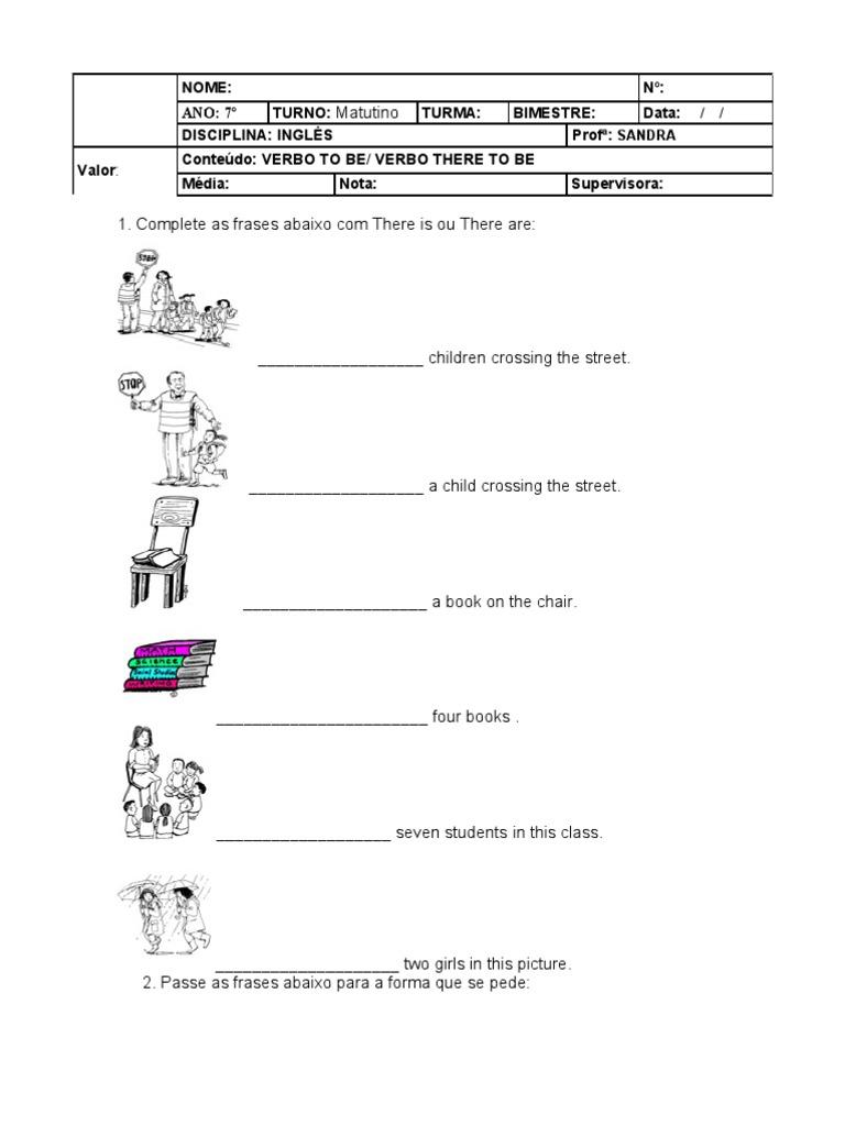 Well-known Teste de Inglês do 7º Ano UI51