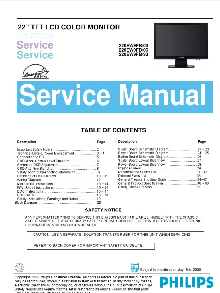 Philips Tft Lcd Color Monitor Wiring Diagram