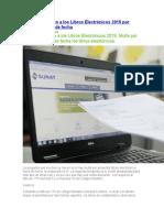 Análisis respecto a los Libros Electrónicos 2019 por presentar fuera de fecha
