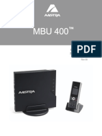MBU 400 User Guide