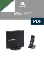 MBU 400 User Guide