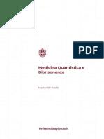 Piano Di Studi Master Di i Livello in Medicina Quantistica e Biorisonanza