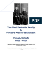 The First Rashotte Family in Tweed's French Settlement