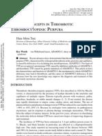 CURRENT CONCEPTS IN THROMBOTIC THROMBOCYTOPENIC PURPURA