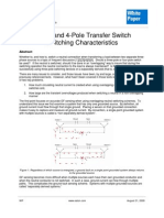 3-Pole and 4-Pole Transfer Switch Switching Characteristics by EATON