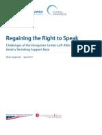 Regaining the Right to Speak