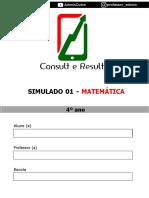 Simulado 01 - Matemática - 4º ano (Blog do Prof. Adonis)