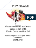 HPHS Poetry Slam with Kevin Coval!
