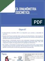 Técnica Dinamômetria Isocinética