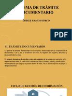 SISTEMA DE TRÁMITE DOCUMENTARIO