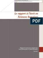 Desmeules Bousquet - Rapport à l'Ecrit en Sciences Humaines - Sherbrooke-PAREA-2015+(1)