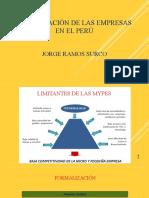 Organización en las empresas en el Perú